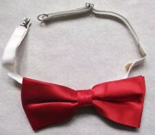 Vintage Bow Tie MENS Dickie Bowtie Adjustable SILKY SHINY RED