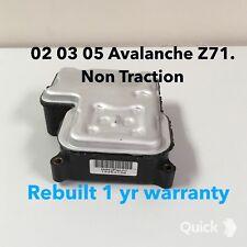 02 03 04 05 Chevy Avalanche Z71, ABS Module,EBCM Computer ,NON TRACTION ,REBUILT