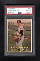 1957 TOPPS #212 ROCCO ROCKY COLAVITO RC HOF INDIANS PSA 8 NM/MT++ SHARP CARD!