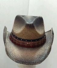 NEW PETER GRIMM BLACKENED HOGAN AMERICANA BAND POCKET LINED DRIFTER COWBOY HAT