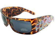Men Women Sunglasses Tattoo Style Shades Retro UV Dragon Gray Lens Leopard 6007