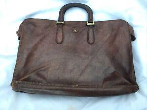 THE BRIDGE Large Classic Brown Leather Briefcase 40cmх30cm