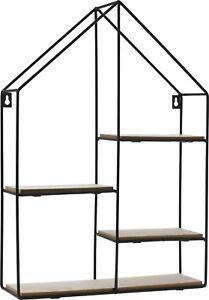 Bonsai Tree Shelf Stand. House Shape Wall Mounted Compartment Display Shelf