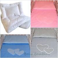 4 pcs Nursery Baby BEDDING SET/PILLOWCASE/DUVET COVER/QUILT/PILLOW 4 Cot/Cot Bed