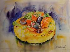 Contemporary Art/ Original Painting by American Artist Rukie Jackson /Cake