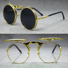 Vintage Round Clips Reading Sunglasses Metal Full Rim Sun Glasses 125 150 175