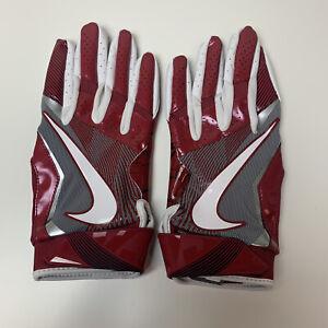 Oklahoma Sooners Nike Promo Vapor Jet 4.0 Wood Grain Football Gloves XL New