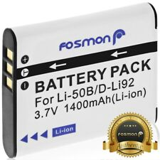 Fosmon 1400 mAh Replacement Battery Li-50B for Olympus Stylus Pentax Optio Ricoh