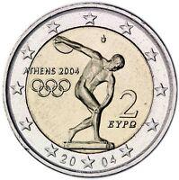 Griechenland 2 Euro 2004 Olympische Sommerspiele in Athen bankfrisch
