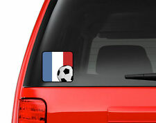 French Flag Soccer Fan - Full Color Vinyl Decal for Car, Macbook, ect.
