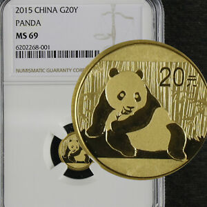 2015 China 1/20OZ Gold G20Y PANDA NGC MS 69