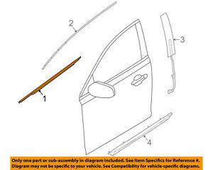 2009-2014 Lincoln MKS Front Door Belt Weatherstrip RH Side new OEM 8A5Z5421452AC