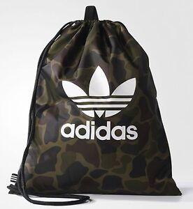 adidas Originals Drawstring Camouflage Multicolor Gym Sack  Sport Bag *NEW