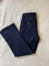 Nwt Gap Boys Chino Dress School Uniform Pants Size 7 Slim Blue