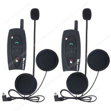 2x Interphone Intercom Casque Helmet Bluetooth Pour Moto Motorcycle 500M