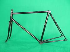 Stratos Black NJS Keirin Frame Set Track Bike Fixed Gear Fixie Pista 54.5cm