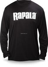 NEW Rapala Fishing Core Long Sleeve Shirt Black White Logo L RCLS9004L