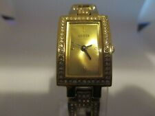 GUESS LADIES' CHAMPAGNE DIAL BRACELET WATCH WITH SWAROVSKI CRYSTALS