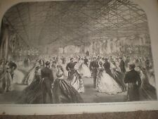 Ball at the Royal William Victualling Yard Stonehouse Plymouth 1865 print ref C