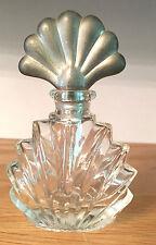 INTERNATIONAL SILVER 4 OZ. CLEAR EMPTY PERFUME BOTTLE-FANCY SILVER PLATED LID