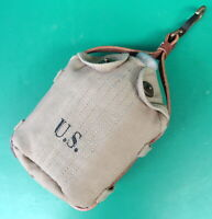 US ARMY M-1917 MOUNTED CANTEEN COVER W/STRAP & 1918 CANTEEN