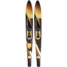 Ho Skis Burner 61-Inch Waterskiing Combo Skis w/ Trainer Bar Bindings (Open Box)