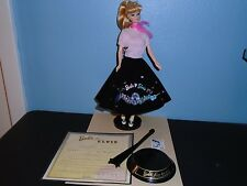 BARBIE Loves ELVIS PRESLEY Deboxed DOLL & FASHION Vintage Face Certificate Stand