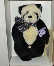 """Annette Funicello 12"""" Panda Bear Cubby C36747 828/1500 with Stand in Box"""