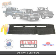 DASH MAT to Suit Toyota Landcruiser 70 78 79 Series 1985 to 06/2009 DM789 CHARC