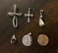 Lot of 5 Sterling Silver 925 Pendants.