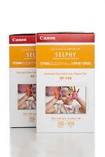 2x Canon rp-108ip 10X15 CARTA PER 216 stampare su SELPHY STAMPANTE #8568B001