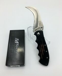 "MTECH USA KARAMBIT  Folding Pocket Knife w/ Modified Hawksbill Blade, 8.25"" OAL"