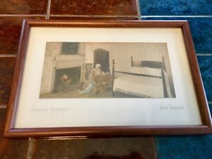 """Fred Thompson """"Colonial Treasures"""" Antique Hand Tinted Photograph"""
