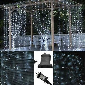 200/300LED Mains Powered 2x2/3x3m Curtain Fairy Lights (Warm White / Cool White)
