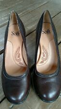 Women's Sofft Brown Leather Shoes Sz. 9M