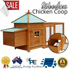 Chicken Coop Cage Hutch Rabbit Guinea Wooden House Large Ferret Chook Hutches AU