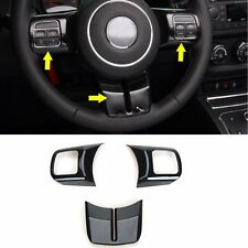 Black Steering Wheel Cover Trim Fit Jeep Wrangler Compass Patriot Grand Cherokee