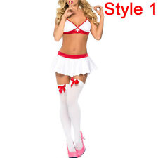 BD_Sexy Girl Lingerie Nurse Or Student Uniform Costume Suspender Halloween Cosp