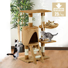 PawHut Cat Tree Condo Furniture Scratching Post Climbing Tower Scratch Activity1
