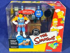 New WOS Simpsons MOE'S TAVERN PLAYSET w/ DUFFMAN FIGURE Interactive Environment