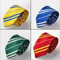Harry Potter Tie Hogwarts Cosplay Gryffindor Slytherin Ravenclaw Hufflepuff Gift