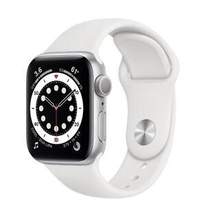Apple Watch Series 6 40mm ALU WHT Sport Band Smart Watch - CELLULAR (New/Sealed)