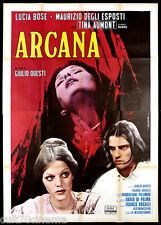 ARCANA MANIFESTO CINEMA LUCIA BOSE DE SETA HORROR ITALIA 1971 MOVIE POSTER 4F