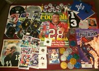 Junk Drawer Lot Collectibles, Football Cards, Bradshaw, Misc #11/21/1P