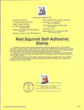 #9321 29c Red Squirrel SA Stamp #2478 USPS Souvenir Page