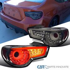 For 12-16 Scion FRS Subaru BRZ Smoke Lens Tinted LED Rear Tail Brake Lights Pair