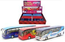 """DISPLAY COACH TRAVEL BUS 7.25"""" Diecast Car Model SL1256DB Die Cast & PULL BACK"""