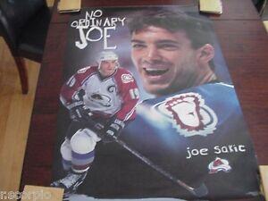 1997 Joe Sakic Colorado Avalanche No Ordinary Joe Costacos Full Size Poster