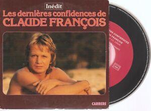 Claude François Les Dernieres Confidences Cd Pochette Cartonnée Card Sleeve