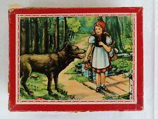 DDR Spielzeug - altes Holzwürfel Puzzle in Pappschachtel ca 60-er Jahre retro
